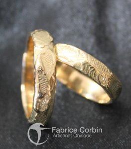 Alliance martelées du créateur Fabrice Corbin